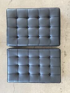 Knoll Barcelona Replacement Chair Cushion Set Black Spinneybeck Leather