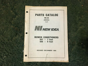 986422 A New Parts Manual For A New Idea 507 509 Mower Conditioners