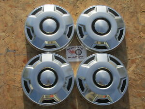 1980 s 90 s Ford 1 2 Ton Pickup Truck Van Dog Dish Hubcaps Set Of 4