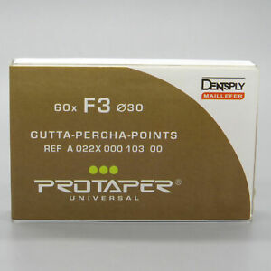 Dentsply Protaper Universal Obturation 60 X Gutta Percha Points F1 f2 f3 f1 f3