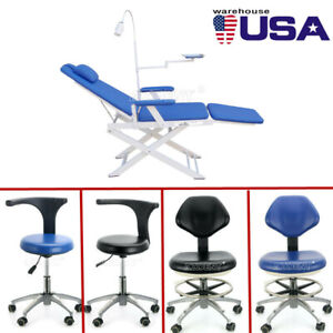 Us Dental Simple Type Folding Chair Rechargeable Led Light dentist Mobile Chair