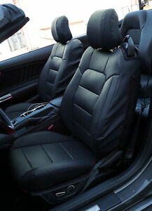 Ford Mustang 2015 2021 Black Iggee S leather Custom Made Fit Seat Covers