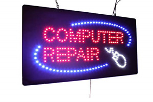Computer Repair Sign Topking Signage Led Neon Open Store Window Shop Grand
