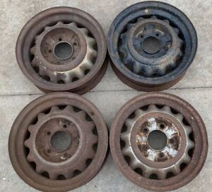 Early Ford V8 Artillery Wheels 5 5 Pattern 16x4 5 1932 Coupe 1933 1934 Trog