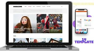 News And Magazine And blog Website For Sale online business Free Hosting