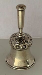 Shiebler American Aesthetic Movement Repousse Sterling Dinner Bell C 1890