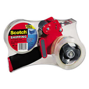 3m Scotch Tape Gun Dispenser With 2 Heavy Duty 3850 Shipping Packaging Rolls New