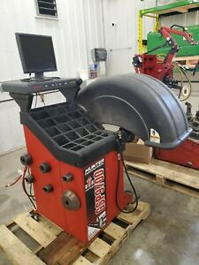 Used Wheel Balancer Hunter Road Force Gsp9700 Wheel Balancer With Adapters