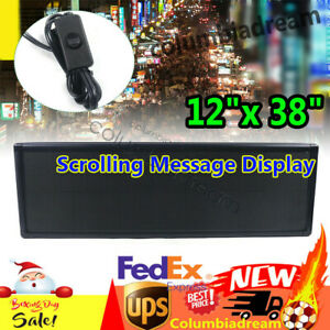 Led Sign Rgb Full Color Programmable 12 x38 Scrolling Message Outdoor Display