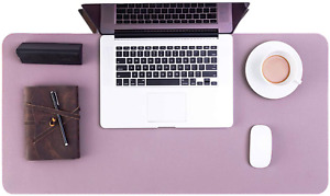 Leather Computer Desk Pad Protector Office Home Large Mat Blotter Nonslip Purple