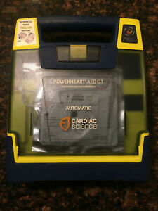 Powerheart Aed G3 Cardiac Science Automatic Defibrillator Used No Battery