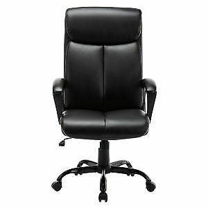 Free Shipping High Back Office Chair Executive Bonded Leather Computer Desk Sw