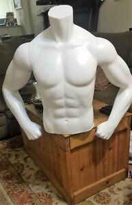 Fusion Specialties Male Torso Mannequin With Magnetic Removable Arms base