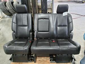 2007 2014 Chevrolet Tahoe 2nd Seat Rear Seat Leather 60 40 Bench