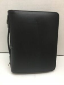 Classic Day Timer Black Leather Day Timer Planner Binder 11 5 X 9 5 Accessorie