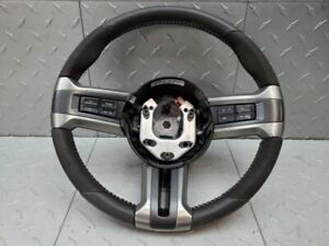 2010 2014 Ford Mustang Gt500 Alcantara Suede Leather Steering Wheel Shelby Used