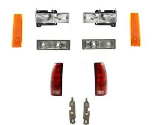 1990 1991 1992 1993 Gmc Truck For Headlights With Signal Lights Reflectors