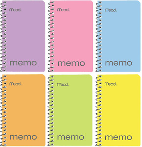 Mead Small Notebook 24 Pack Of Pocket Notebook 3x5 College Ruled Small Memo P