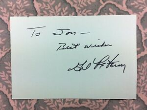 Gil Peterson Valley Of The Dolls The Brain Machine Combat Autographed 1973