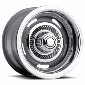 15x8 4 Wheels Rims Vision Rally 55 Silver 12mm 6x139 7