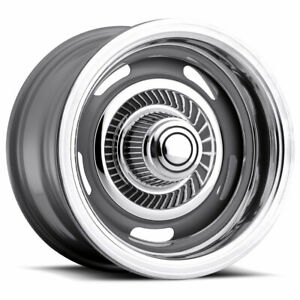 15x6 4 Wheels Rims Vision Rally 55 Silver 12mm 5x120 65