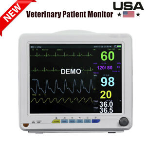 6 parameter Veterinary Patient Monitor Vital Sign Nibp Spo2 Ecg Temp Resp Pr Vet