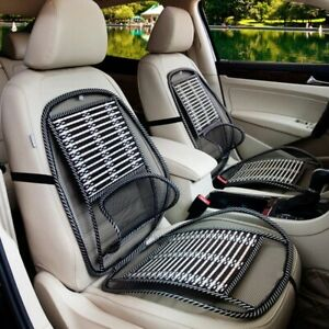 Breathable Car Seat Cooling Lumbar Universal Car Massage Cushion Wire Bamboo Pad
