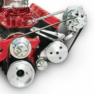 March Performance 20580 Pulley Kit Serpentine Aluminum For Chevy Big Block New