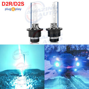 2x D2s D2r D2c Hid Xenon Bulbs Replace Factory Headlight Replacement 8000k Blue