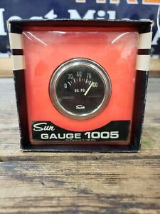 Nos Vintage Sun Oil Pressure Gauge 1005 Hot Rod 0 100 Psi New In Box Usa
