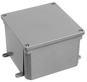 Carlon E987rr Pvc Molded Junction Box 6 X 6 X 4