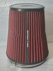 Spectre Performance Cold Air Intake Red Filter 6 Intake Clamp On 8 Tall Used