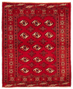 Vintage Hand Knotted Carpet 3 3 X 4 0 Traditional Oriental Wool Area Rug