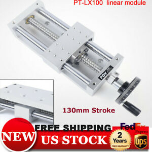 130mm Strokes Ball Screw 1605 Slide Manual Cnc Linear Actuator Sliding Table