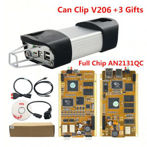 Newly Can Clip V206 Renault Obd2 Diagnostic Tool Full Chip Programmer Interface