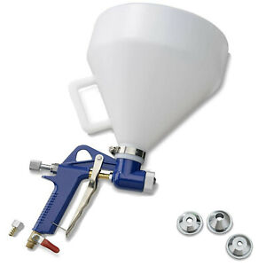 Air Hopper Spray G Un Paint Spraying Texture Gravity Feed Drywall 4 6 8mm Nozzle