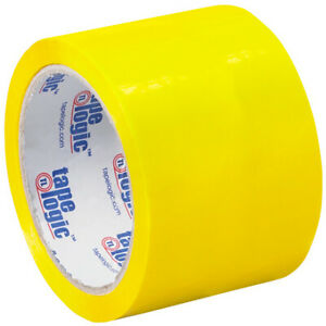3 X 55 Yds Yellow Tape Logic Carton Sealing Tape 2 2 Mil 6 Pack