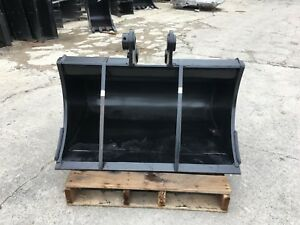 New 36 Ditch Bucket For A Yanmar Vio55 W Coupler Pins