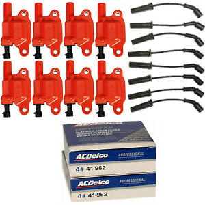 Acdelco Double Platinum Spark Plug Racing Ignition Coil Wireset For Chevrolet