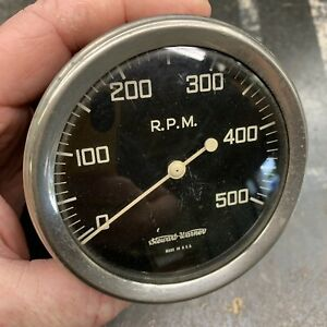 Sw Stewart Warner Domed Glass 500 Tachometer Mechanical Early Tach