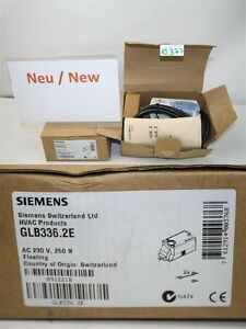 Siemens Glb336 2e Ac 230 V 250 N Air Dampers Rotary Actuator Hvac Products