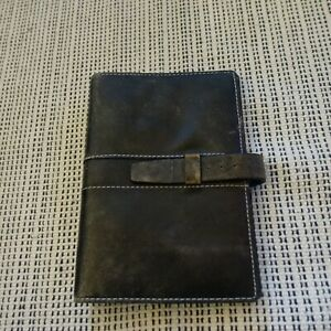 Vtg Filofax Metropol Personal Organizer Real Leather Planner 6 ring Binder