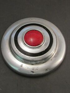 Vintage Accessory Red Reflector Hubcap 10 Inch