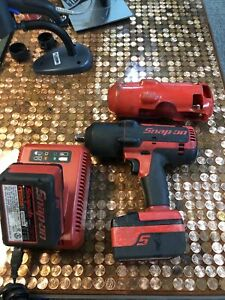 Snap on Ct7850 18v 1 2 Impact Driver With 2 Batteries Charger Cover
