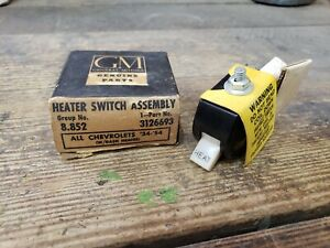Nos Oem 1934 1954 Chevrolet Accessory Under Dash Heat Switch Heater Gm 3126693