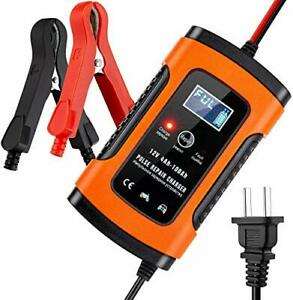 5 Amp 12v Automotive Smart Battery Charger Maintainer For Car Motorcycle Lawn