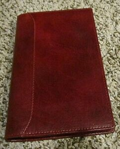 Filofax Lockwood Personal Slim Organizer Burgundy Leather Planner 6 ring New