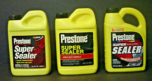 Lot Of 3 Vintage Prestone Super Radiator Sealer Stop Leak Heavy Duty 14 5 Oz Nos