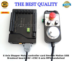 Cnc 6 Axis Stepper Motor Controller Card Smooth Motion 24v Breakout Board dhl