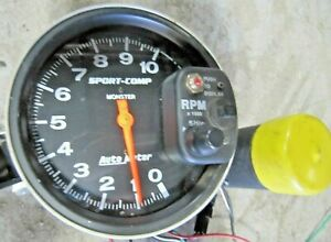 Autometer Sport Comp 10000 Rpm Monster Tachometer 5 Diameter Shift Light